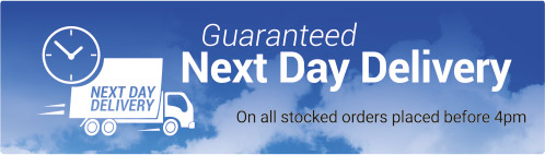 Guaranteed Next Day Delivery On all stocked orders placed before 4pm!