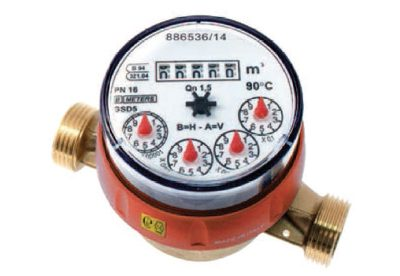 B Meters GSD8 single jet hot water meters available at MWA Technology