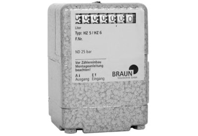 Braun HZ5 Mechanical Display Oil Meter available at MWA Technology