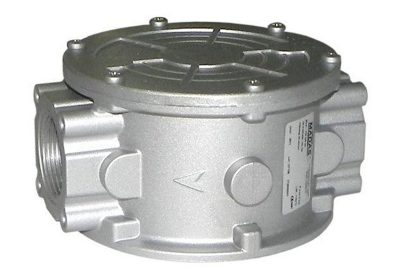 Cast aluminium inline gas filter (type FM) available at MWA Technology