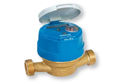 Itron Unimag single jet brass cold water meter available at MWA Technology