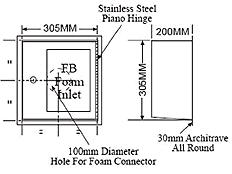 Single Foam Inlet Cabinet