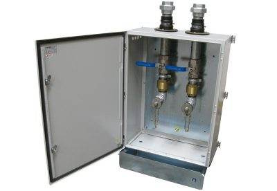 Landon Kingsway Oil fill point cabinets and oil fill valves available at MWA Technology