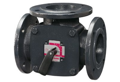 3 way valves cast iron bodies Flanged PN6 available at MWA Technology