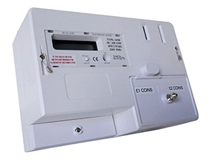 MWE100 Electronic dual coin pre payment electricity meter available at MWA Technology