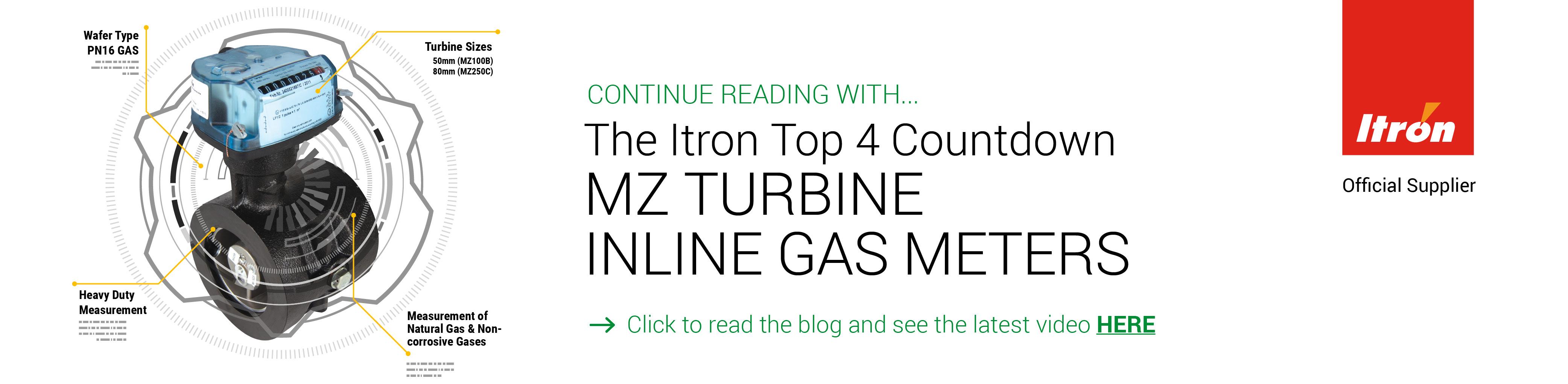 MZ Turbine Inline Gas Meters