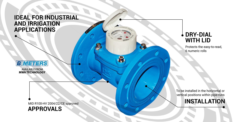 B Meters WDE-K50 Range Water Meter