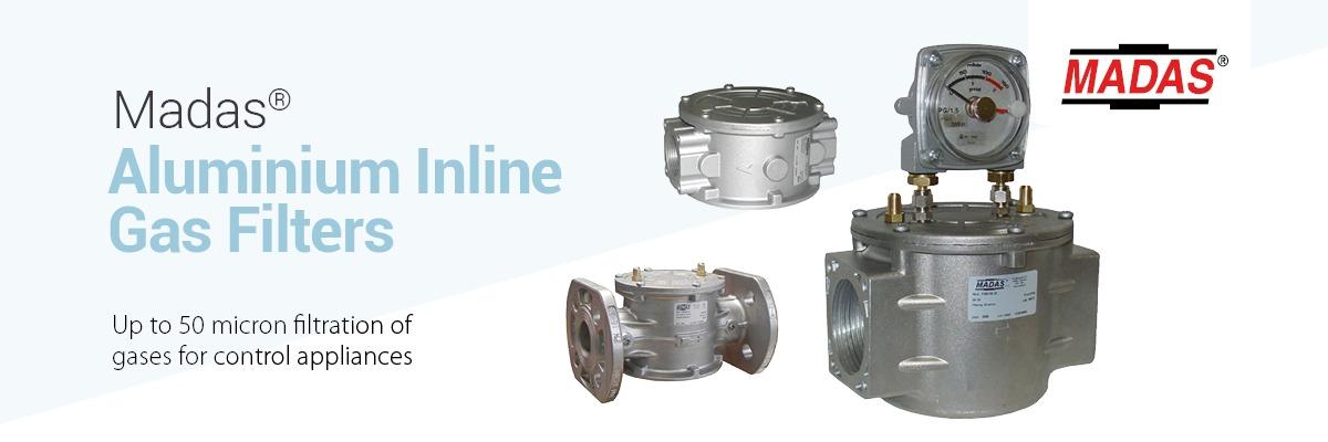 MADAS Aluminium Inline Gas Filters