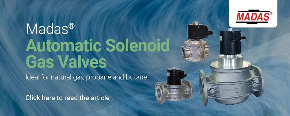 Madas Automatic Solenoid Gas Valves from MWA Technology